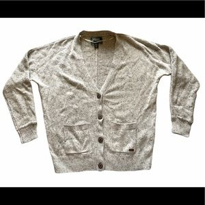 Roots - Cotton grey marl button front cardigan